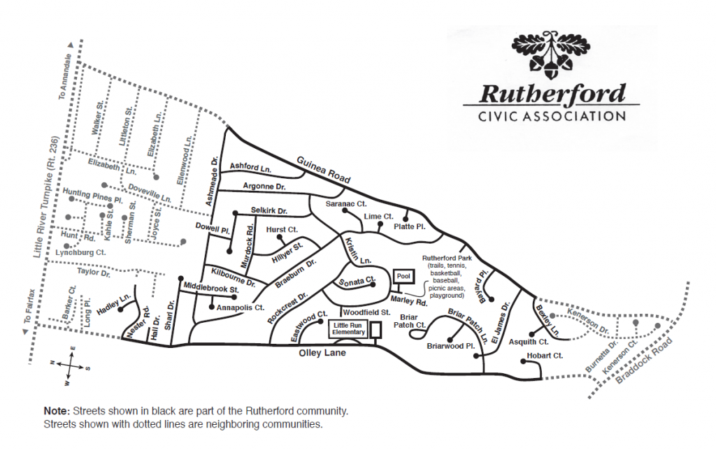 Rutherford Map